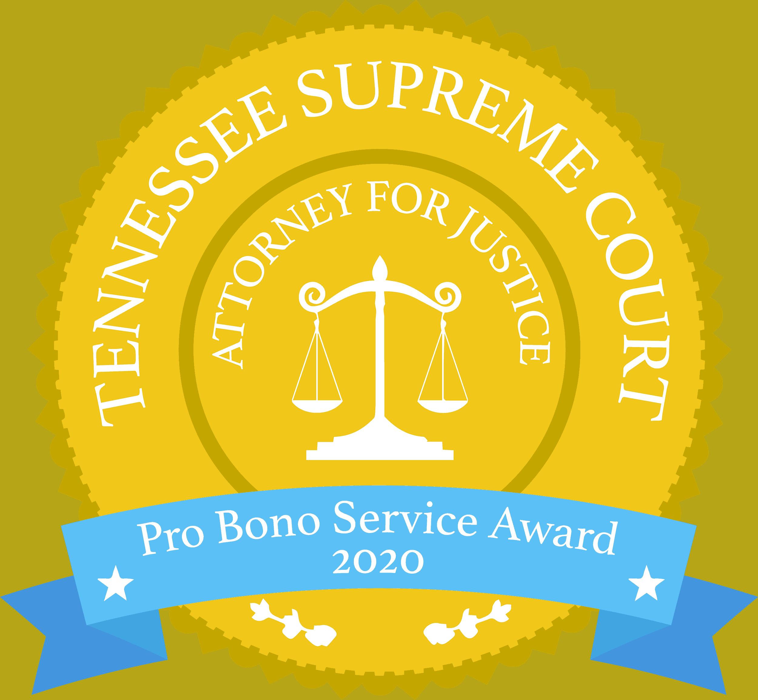 Pro Bono Service Award 2020